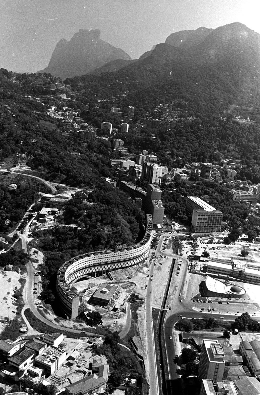 Vista da aérea da cidade do Rio de Janeiro antigo RIO-ANTIGO-29